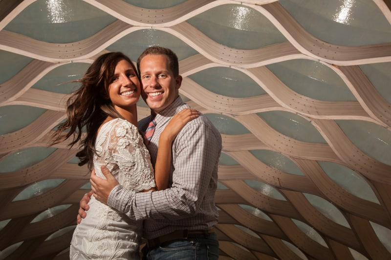 chicago honeycomb engagement picture
