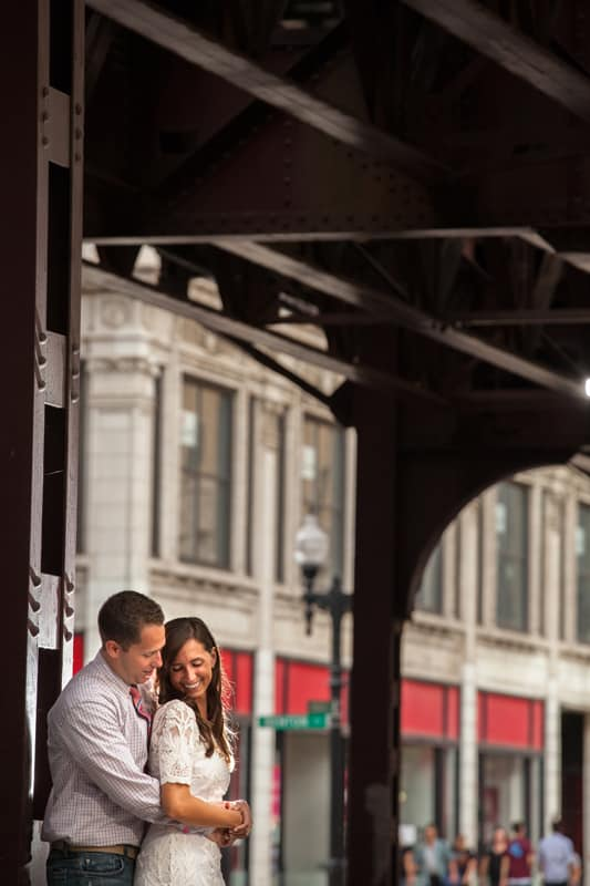 engagement picture in chicago