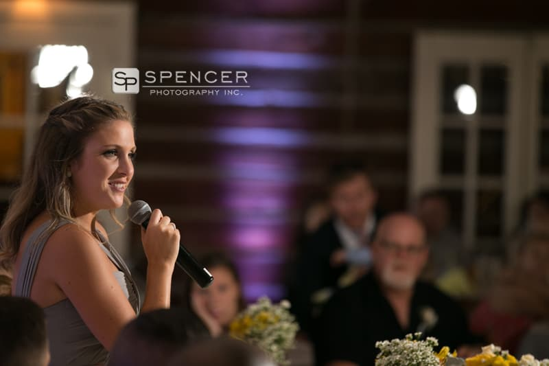 maid of honor speech at vermilion on the lake wedding reception