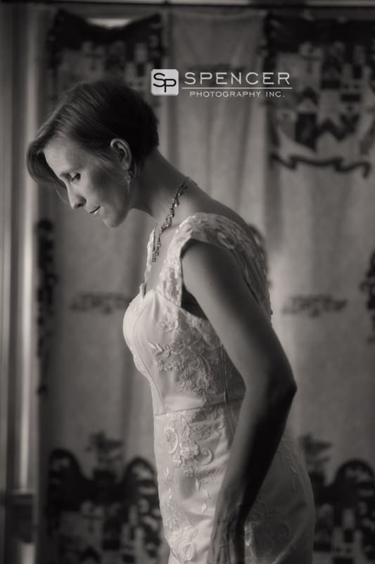 bride on her wedding day in shaker heights
