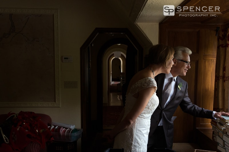 wedding couple before wedding ceremony