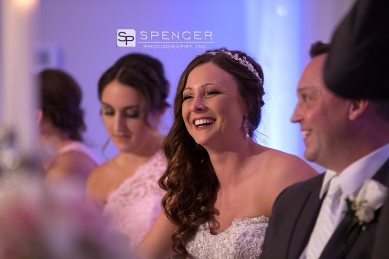 bride laughing at st. helenic