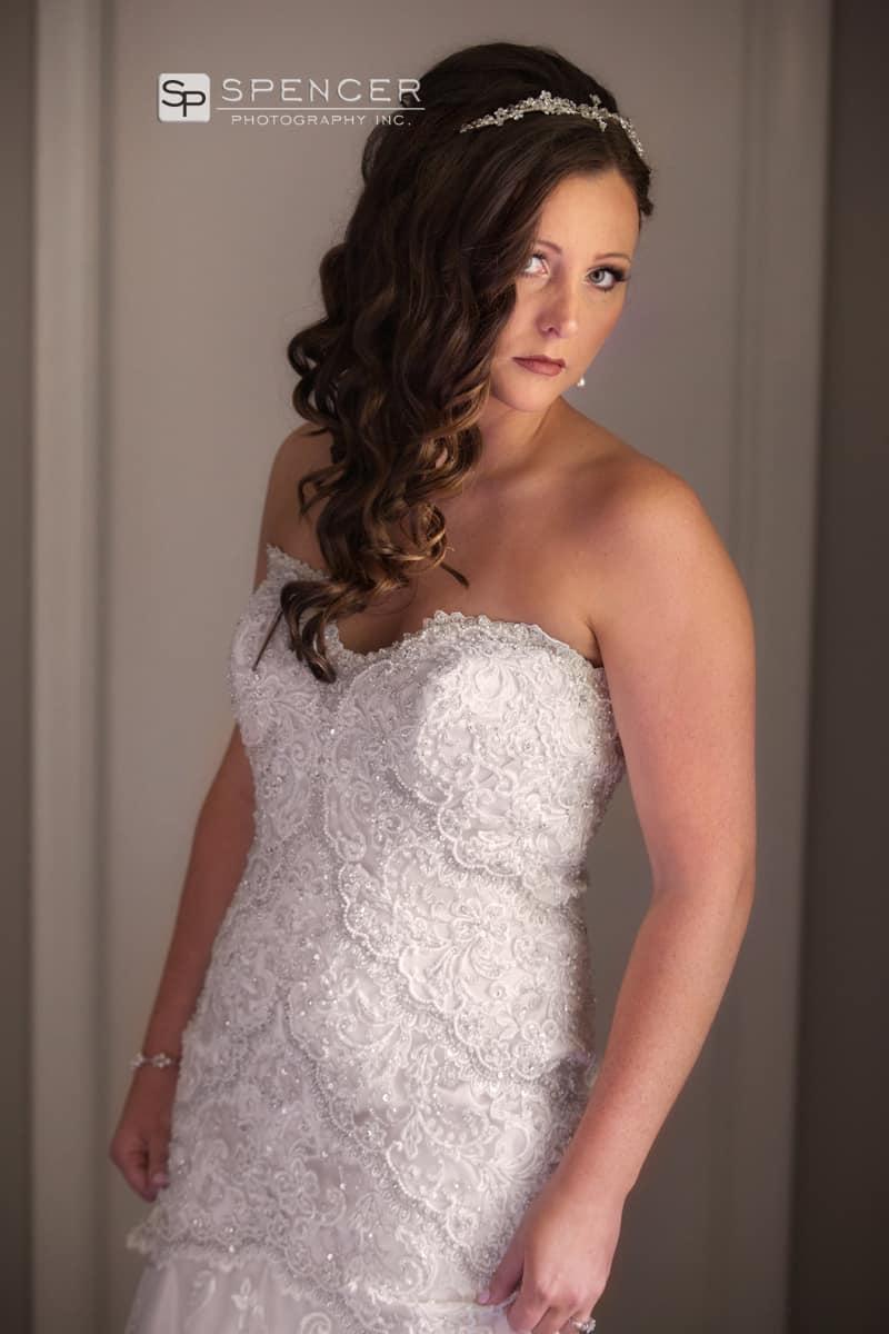 bridal portait in brecksville