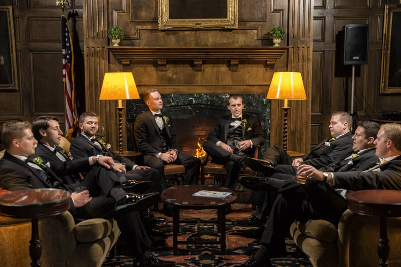 groomsmen at wedding at union club