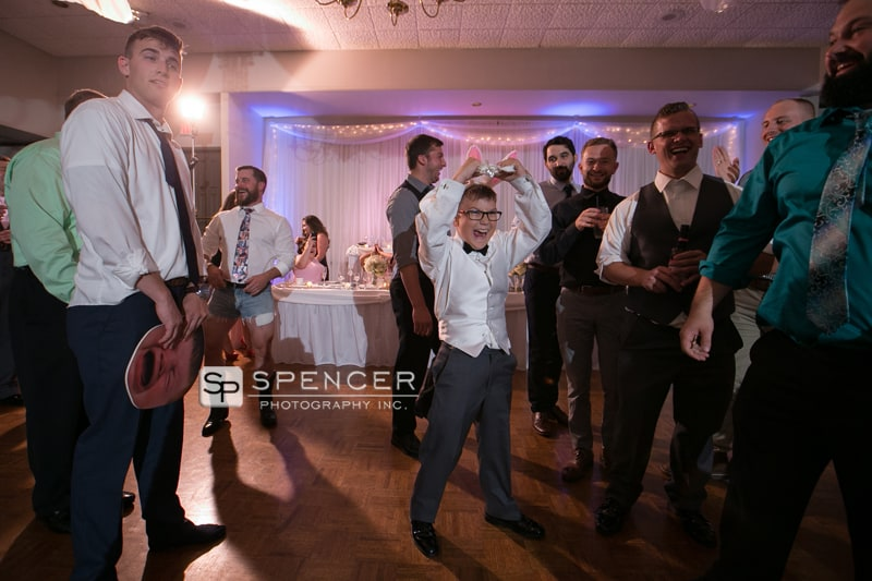 celebrating catching the garter
