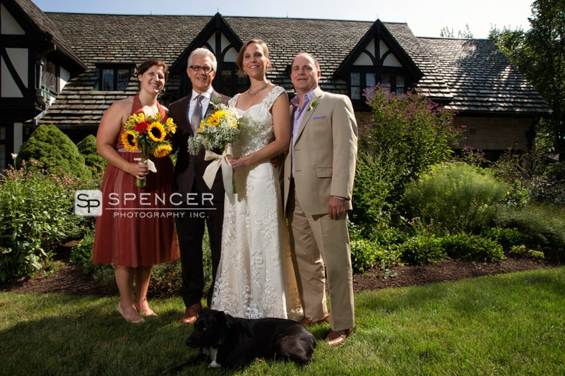 wedding party at wedding in shaker heights