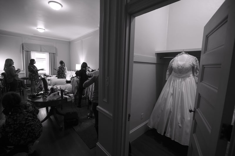 wedding dress at union club of cleveland