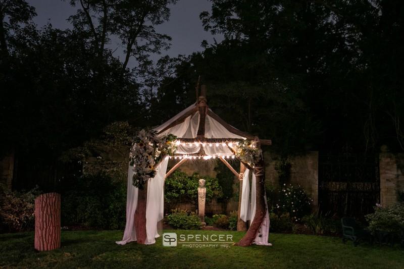 wedding ceremony arbor at green wedding