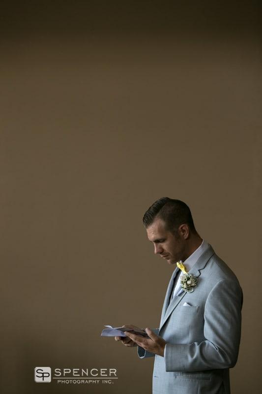 groom ready wedding card from bride