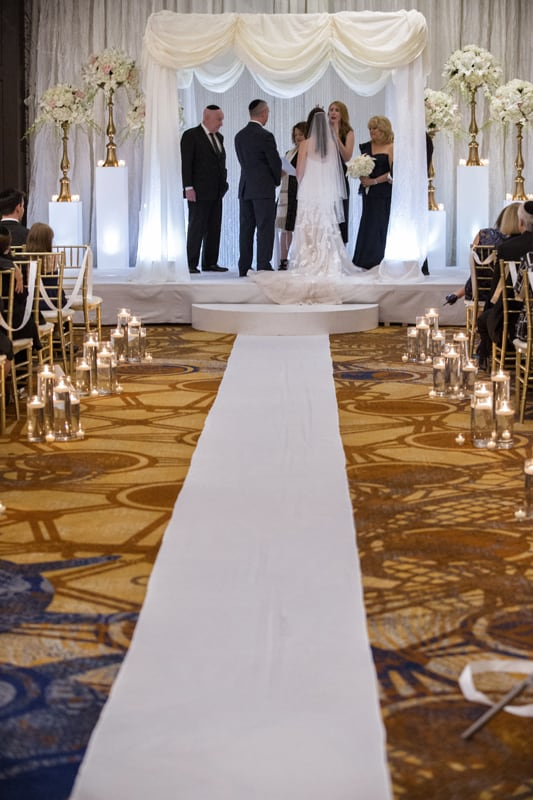 wedding ceremony at westin cleveland