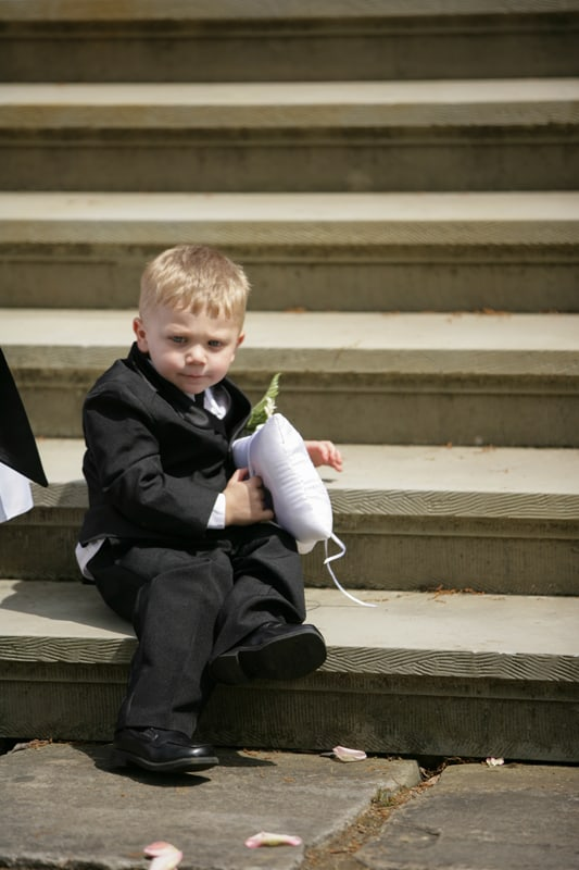 ring bearer at stan hywet wedding