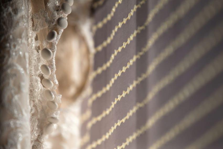 wedding dress in window of tudor arms