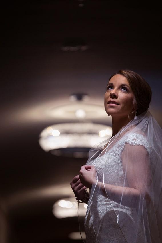 bride picture in tudor arms hallway