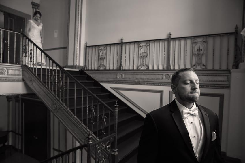 emotional groom at tudor arms