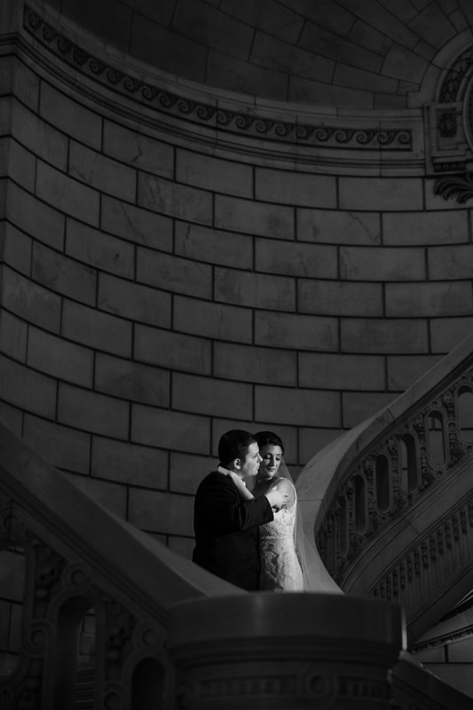 wedding portrait at old courthouse reception