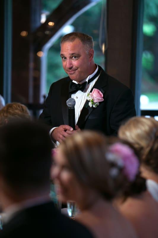 brides dad give reception speech