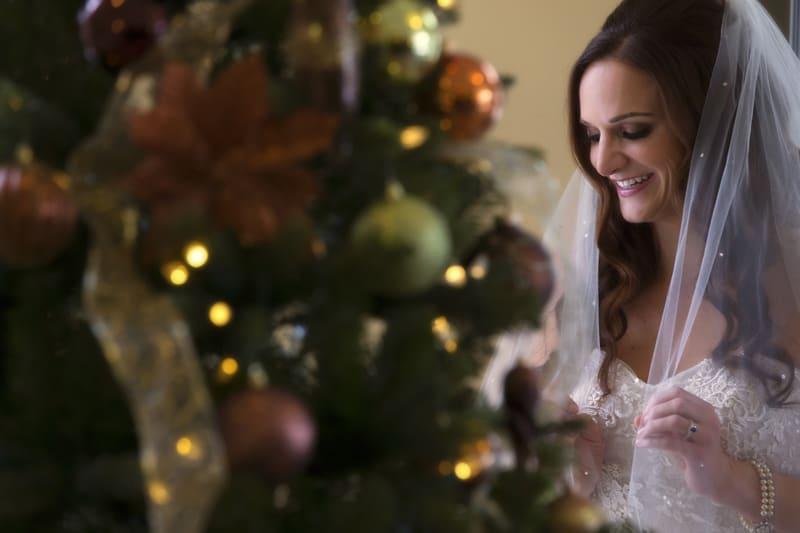 christmas picture at wedding at ballroom at park lane