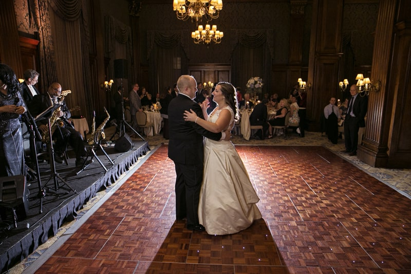 first dance at wedding reception at Union Club of Cleveland
