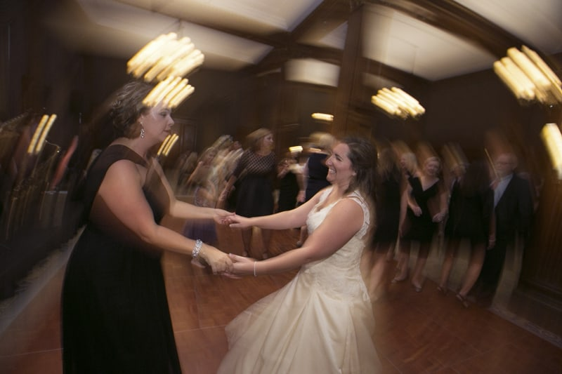 bride dancing with maid of honor