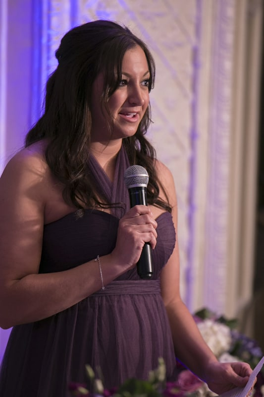 maid of honor speech at wedding reception at park lane