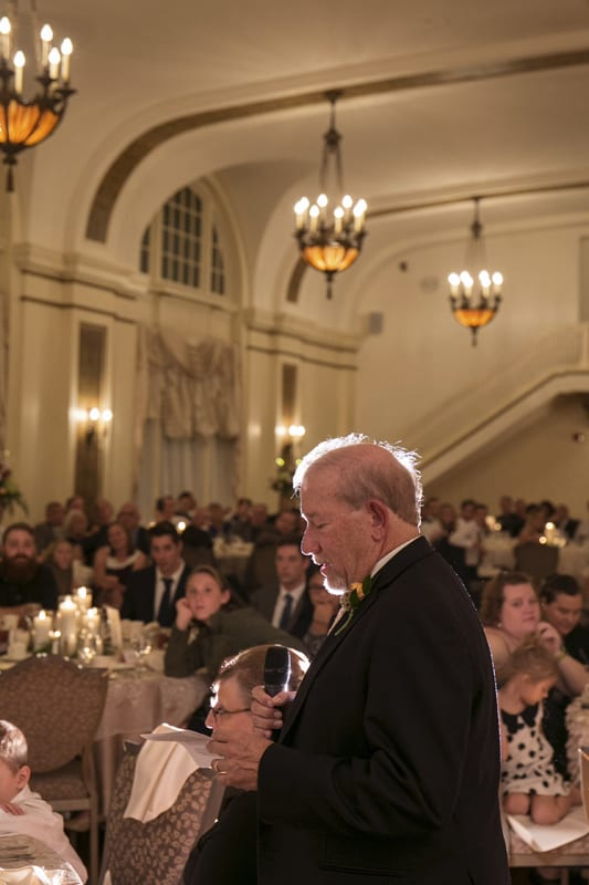 dad gives reception speech at greystone hall