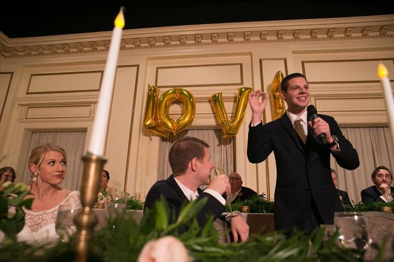 best man reception speech at greystone