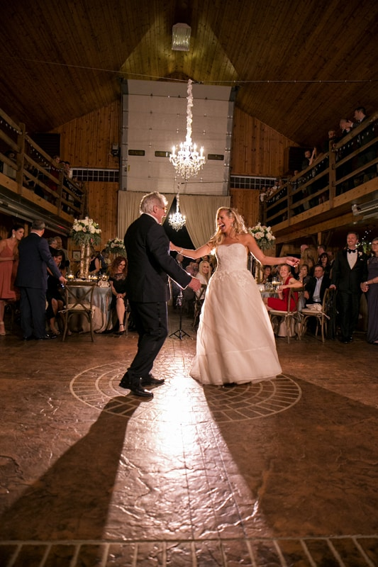 ken stewert dances with daughter at wedding