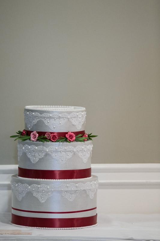 gift box at wedding reception at acacia
