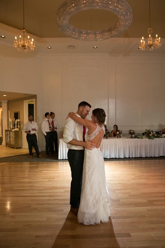 first dance a wedding reception at acacia
