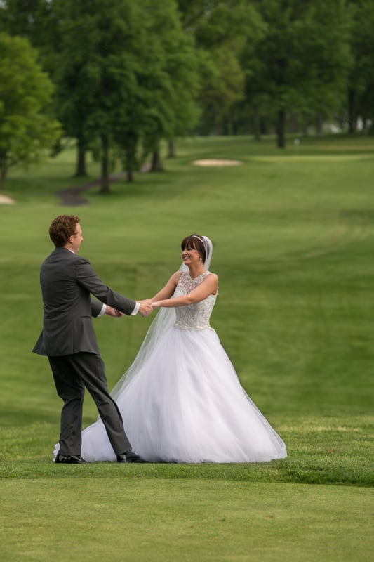 bride and groom at firestone country club