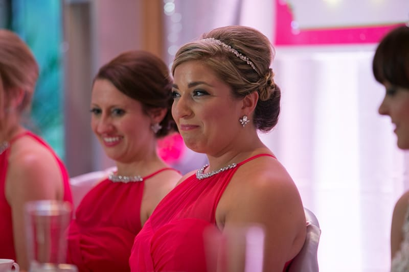 maid of honor crying at speech