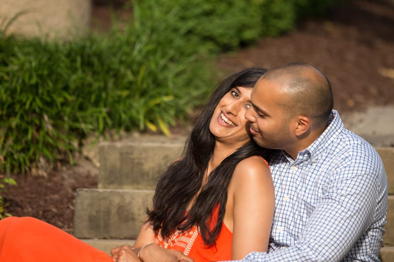 couple laughing at wade oval park