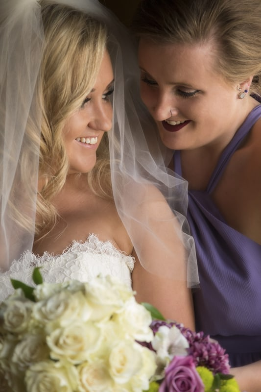bride with sister at tudor arms