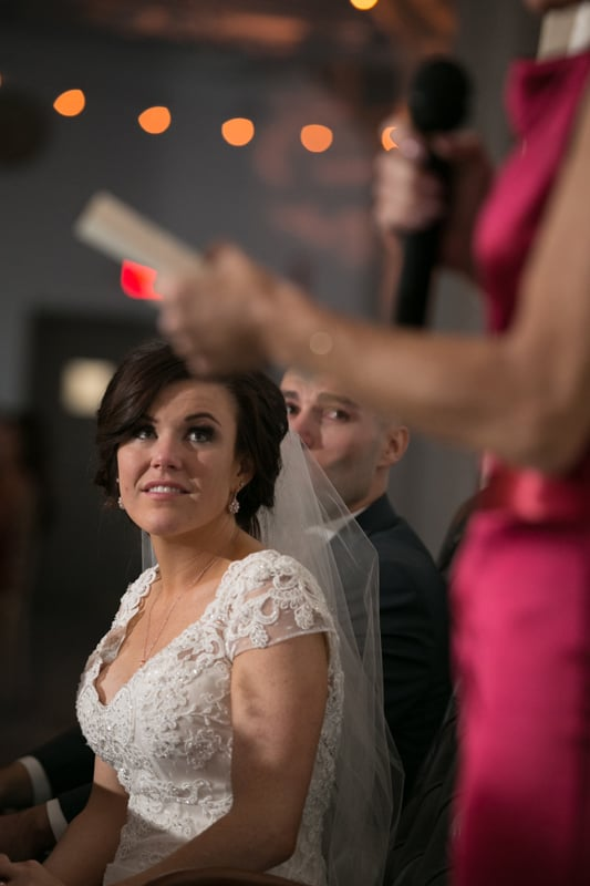 bride watching speech