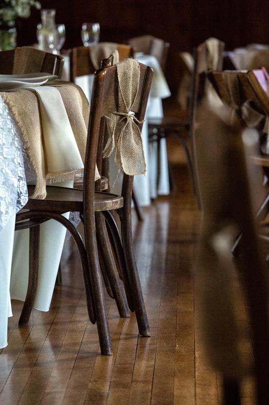 wedding reception chair detail