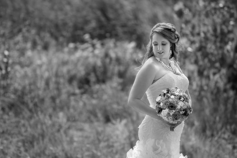 bridal portrait at columbia ballroom
