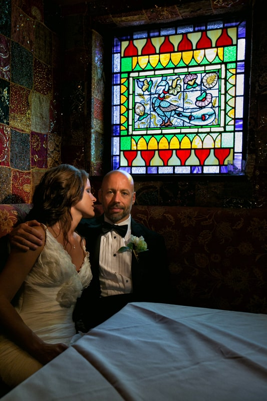 bride and groom at house of blues cleveland