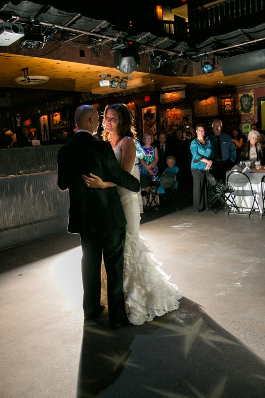 first dance at reception at cleveland house of blues