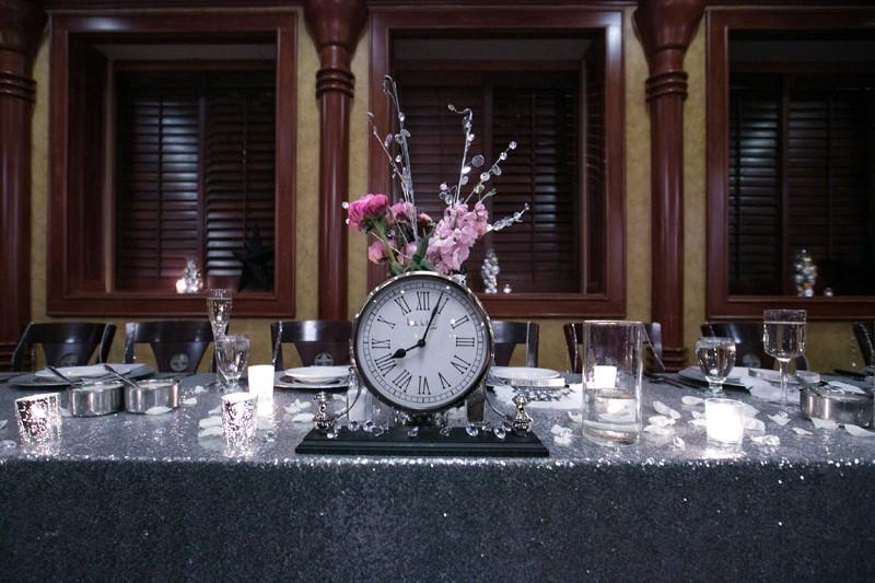 greeting table at wedding reception at tangier