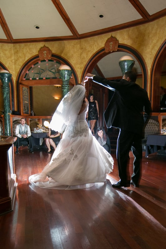 first dance and wedding reception at akron tangier