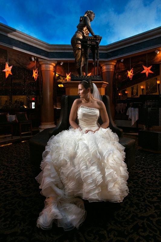 bride at her wedding at tangier