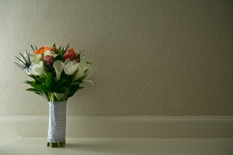 wedding day flowers at tangier