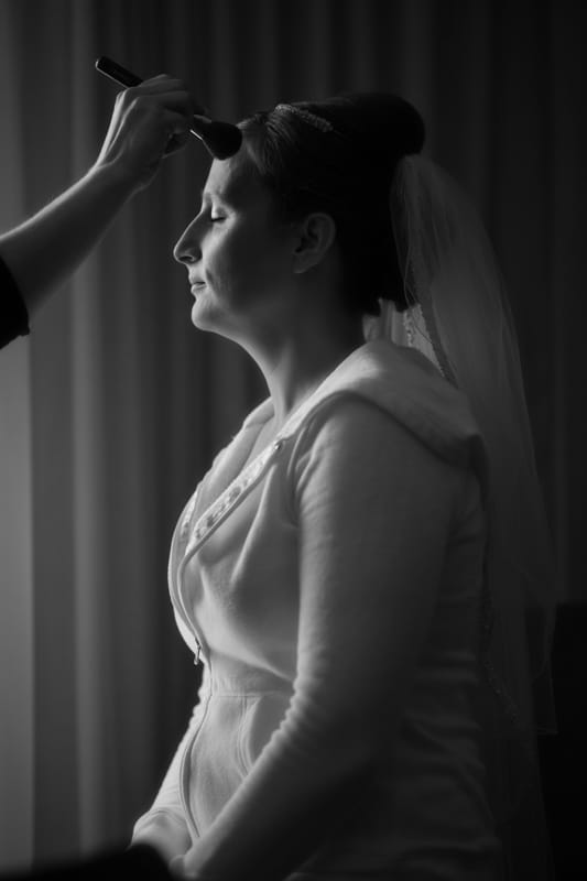bride getting ready for her wedding at tangier