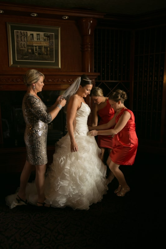 bridesmaids helping bride on her wedding day tangier