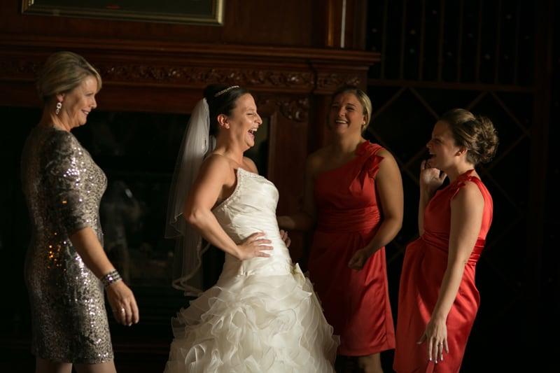 bride laughing at her wedding at tangier