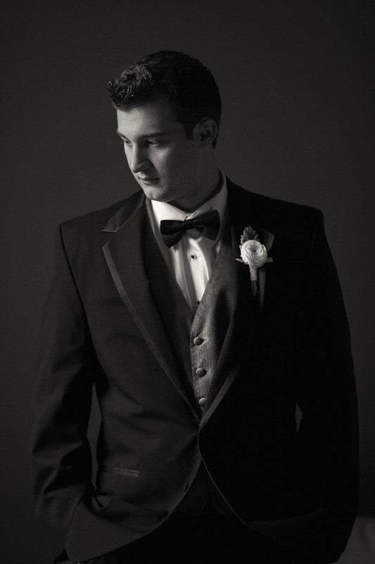 wedding day picture of the groom