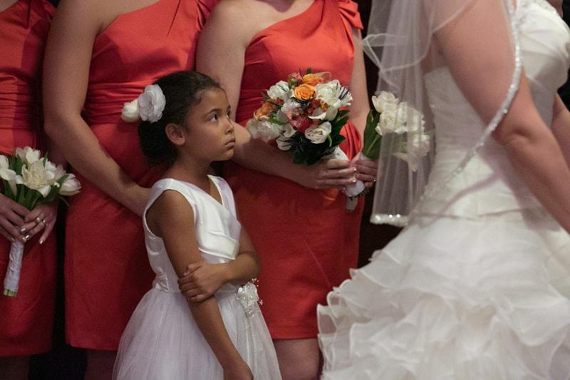 flower girl at wedding at tangier
