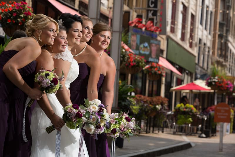 bridesmaids at cleveland east fourth street