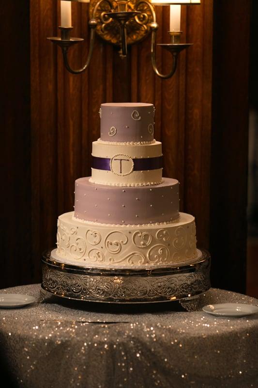 wedding cake at union club wedding reception