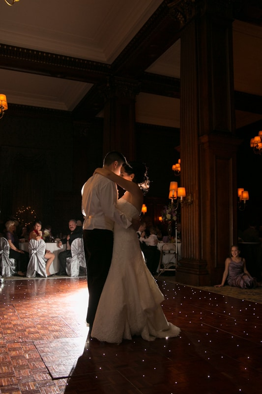 first dance at wedding reception at union club